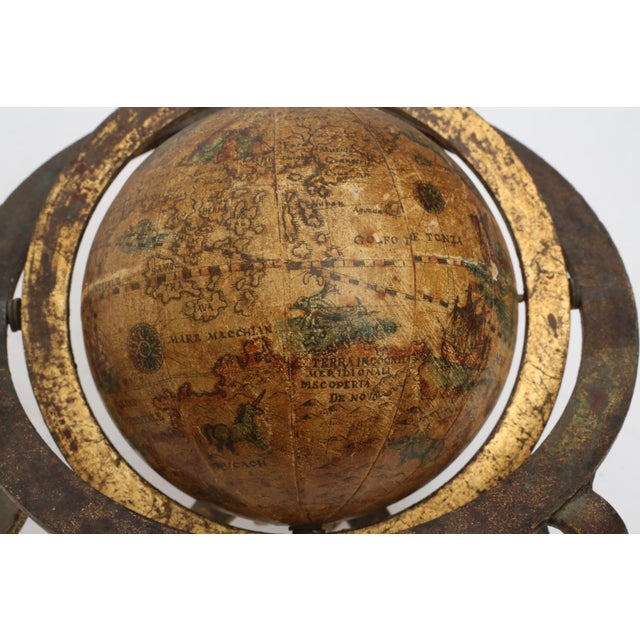 Italian Mini Old World Globe with Brass stand - Image 8 of 10