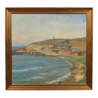 Danish Colorful Shore Oil Painting
