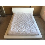 Image of Modani White Leather Queen Bedframe