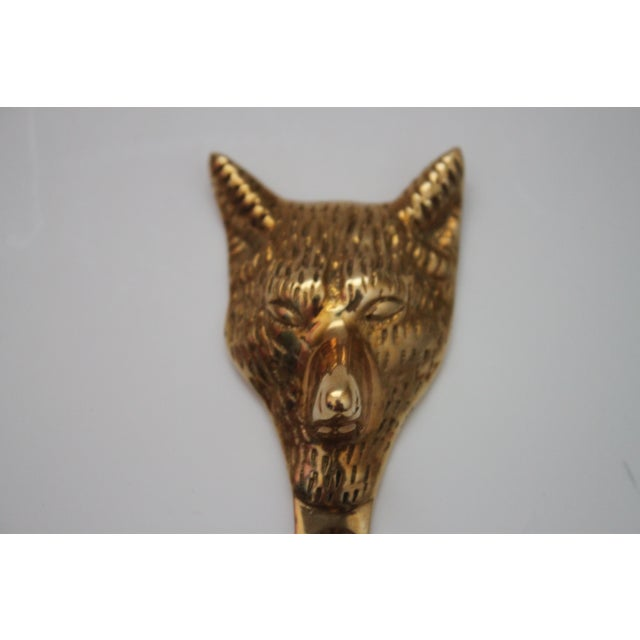Image of Solid Brass Fox Head Hooks - A Pair