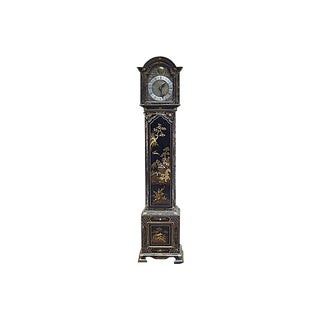 Antique Hand-Crafted Chinoiserie Grandmother Clock