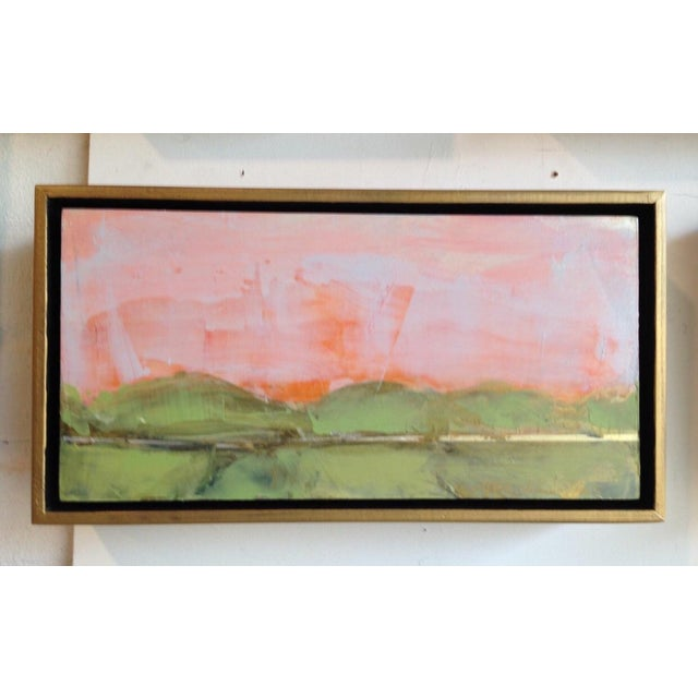 Coral Gestural Fields Painting - Image 2 of 5