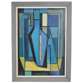Vintage Abstract Painting by Holden