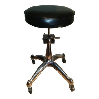 Antique F. & F. Koenigkramer Art Deco Industrial Opthalmic Medical Exam Stool