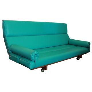 Martin Borenstein Turquoise Daybed Sofa Mid Century Modern C.1960's