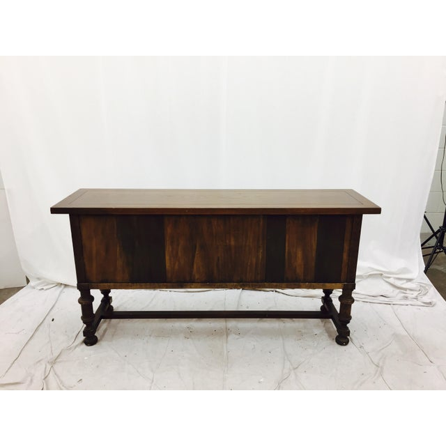 Vintage wooden console table chairish for 0co om cca 9 source table