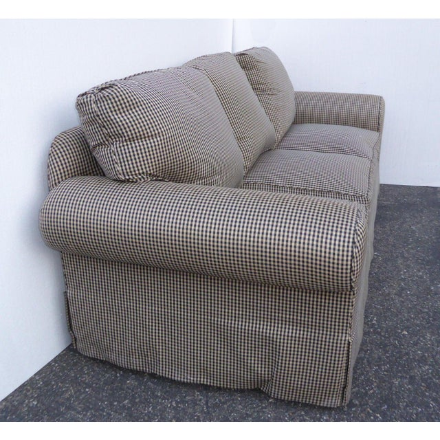 Glabman Furniture Plaid 3 Seater Sofa - Image 9 of 11