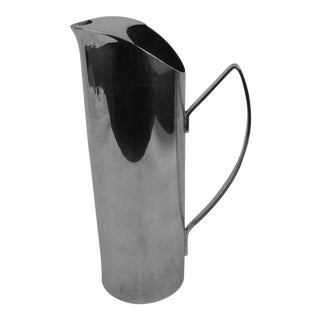 English Mid-Century Cocktail Silver Pitcher