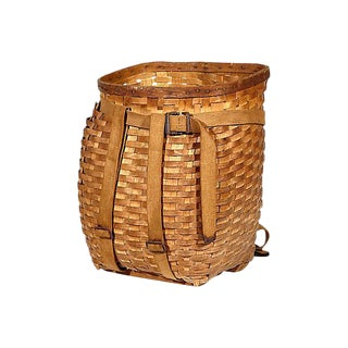 Rustic Wicker Basket with Straps