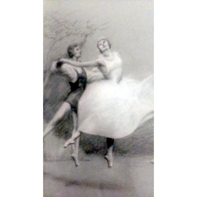 Charcoal Ballet Sketch by A. Von Munchhausen - Image 5 of 10