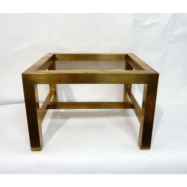Maitland-Smith Stone & Brass Box Side Table - Image 8 of 10