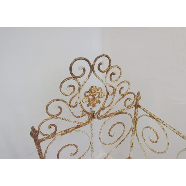 Image of Victorian Antique Wrought Iron Scrollwork Crib