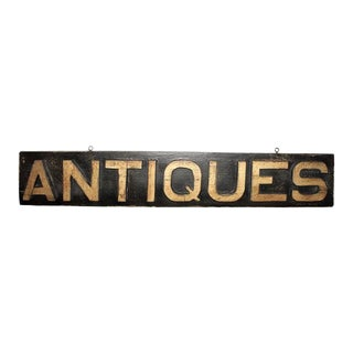 "Vintage ""Antiques"" Trade Sign from New England"