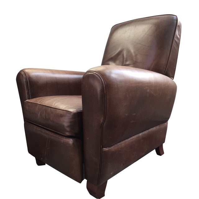 Room and Board Dark Brown Leather Recliner - Image 1 of 6