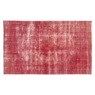 Pink Overdyed Floral Oriental Rug - 8' x 13'