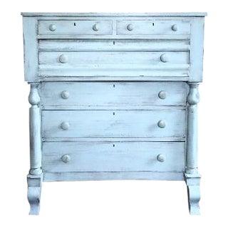 Antique Rustic Shabby Chic Distressed Light Blue Dresser