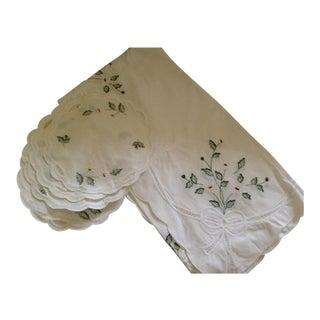 Irish Tablecloth and Napkins - Set of 5