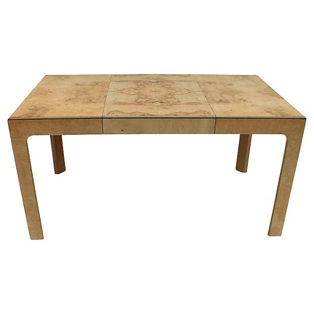 Image of Henredon Burl Wood Dining Table