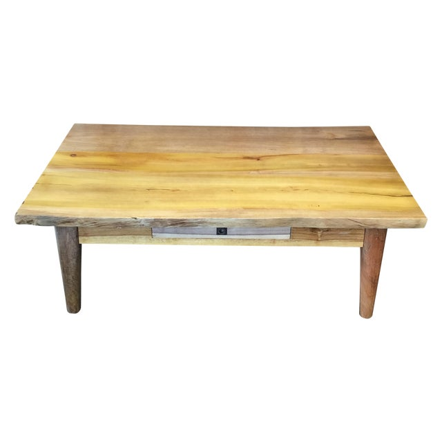 Salvaged Wood Cocktail Table - Image 1 of 10