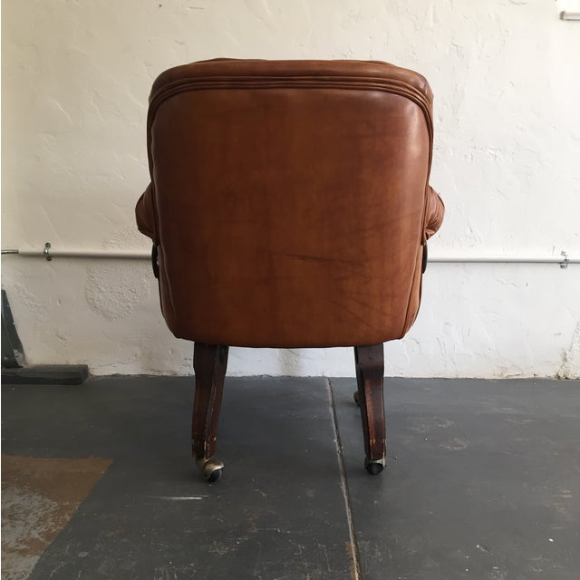 Tufted Faux Leather Chair - Image 4 of 4