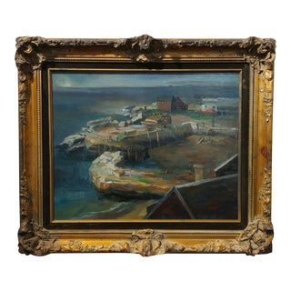 Harbor Scene -California Regionalist -oil Painting by Glasgow c.1930s