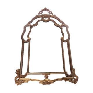 Large Vintage Rococo Wood Carved Mirror