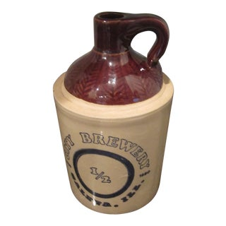 1850-1880 Antique Galena Il City Brewery Jug