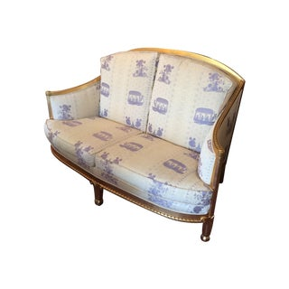 Vintage 1960s Giltwood French Chinoiserie Loveseat