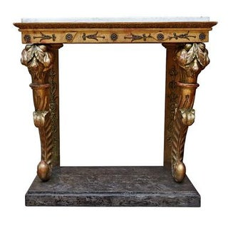 19th Century Swedish Marble-Top Console Table