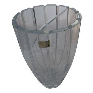 Mid-Century Crystal Glass Vase