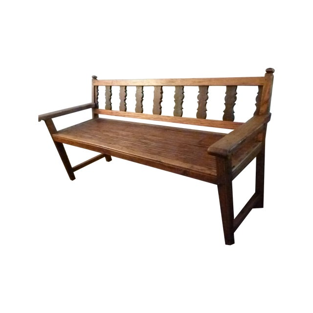 Reclaimed Tucker Robbins Exotic Wood Bench - Image 1 of 10