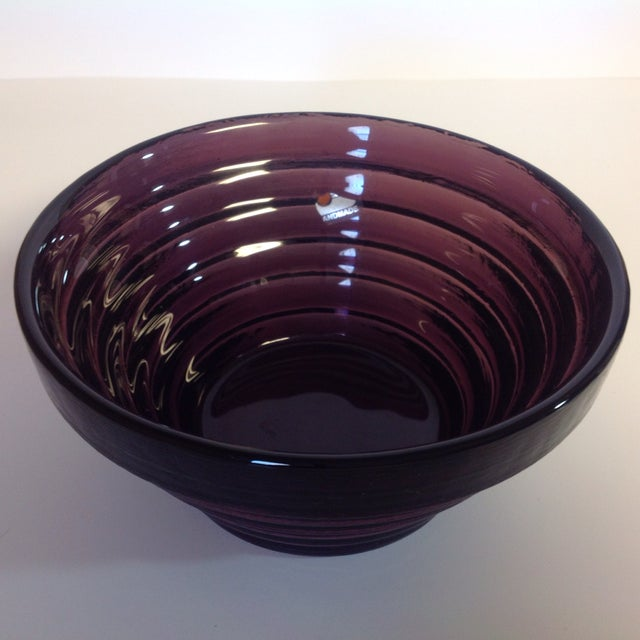 Blenko Purple Art Glass Waterfall Bowl - Image 2 of 4