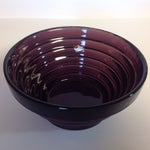 Image of Blenko Purple Art Glass Waterfall Bowl
