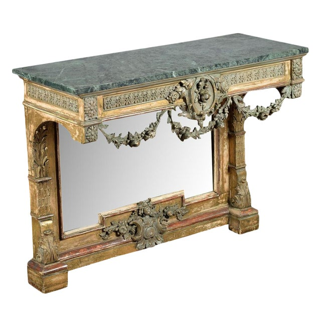 19th-Century French Marble Top Console - Image 1 of 10