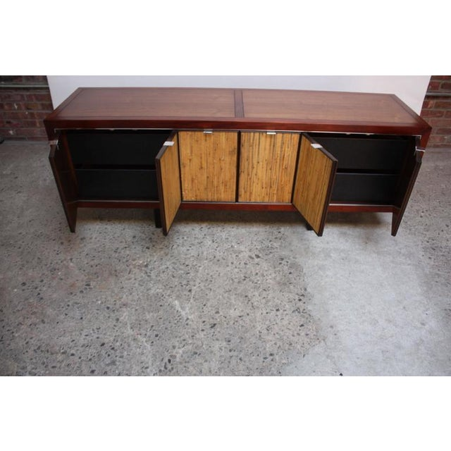 1970s Walnut, Bamboo and Cherry Credenza after Harvey Probber - Image 7 of 10