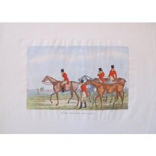 1820's British Equestrian Print - Melton Mowbray