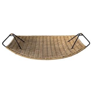 Large Wicker & Iron Basket