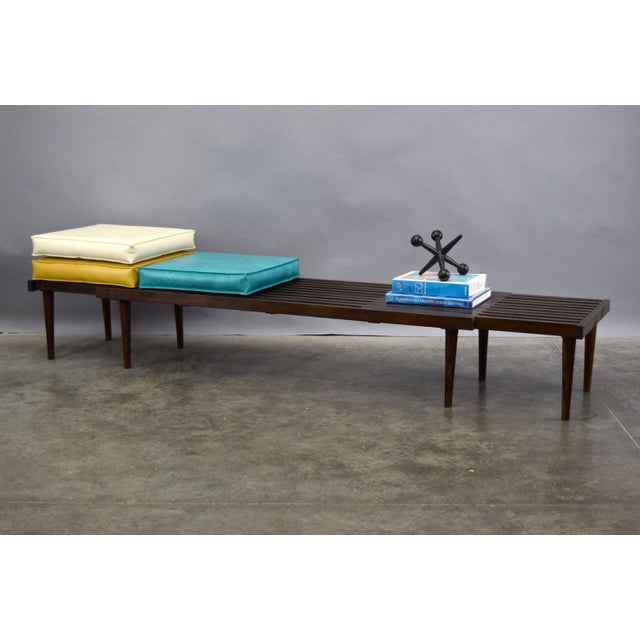 On Hold - John Keal for Brown Saltman Mid-Century Expandable Slat Bench or Table - Image 6 of 10