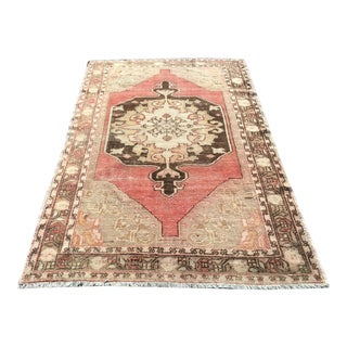 Distressed Turkish Anatolian Rug - 4′3″ × 7′