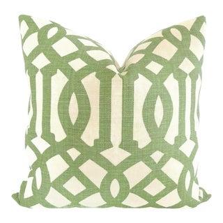 Green Trelliage Imperial Trellis Decorative Pillow Cover, 20x20