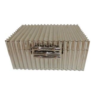 Bamboo Nickel Plated Decorative Box