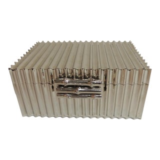 Bamboo Nickel Plated Decorative Box