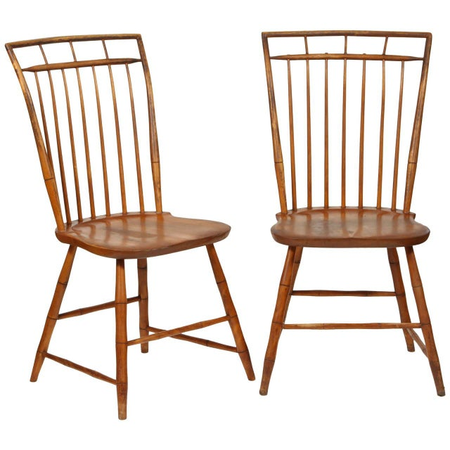 Windsor Chairs With Pinned Backs - A Pair - Image 1 of 6