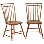 Image of Windsor Chairs With Pinned Backs - A Pair