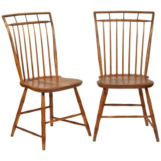 Windsor Chairs With Pinned Backs - A Pair