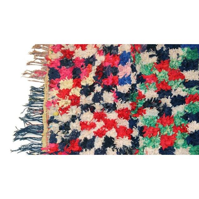 "Vintage Boucherouite Moroccan Carpet - 7'5"" X 4'3"" - Image 2 of 3"