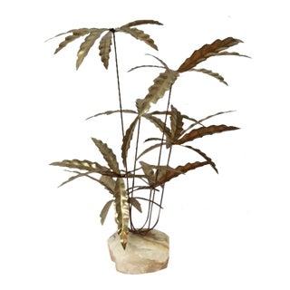 Vintage Jere Style Brass Palm Tree Sculpture
