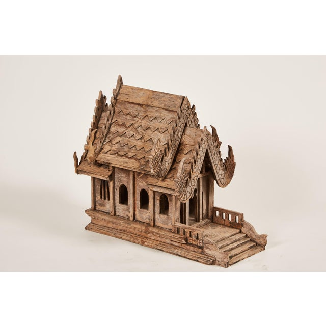 "20th Century Teak Spirit House of the Buddhist Temple ""Vihara"" in Thailand - Image 5 of 8"