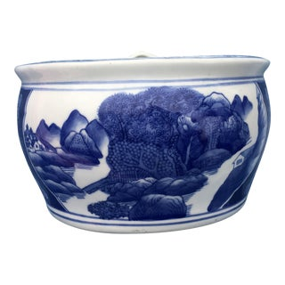 Chinoiserie Blue & White Wall Pot
