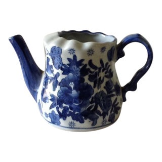 Blue & White Ceramic Pitcher